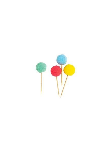 Picks pom pom colori assortiti (10 pz)