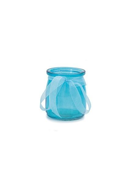 Vasetto in vetro azzurro (1pz)