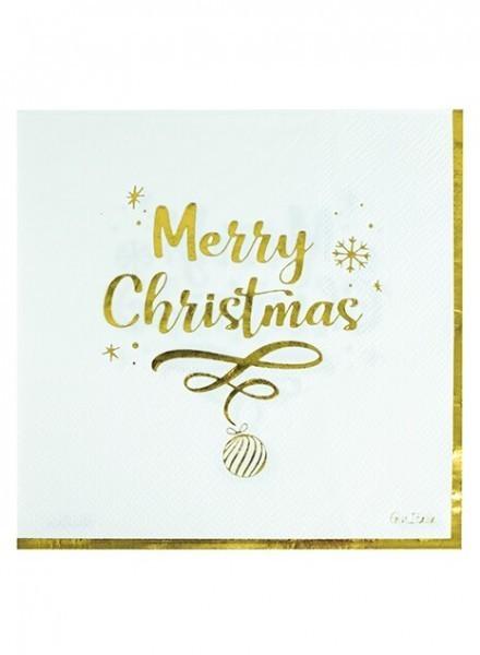 Tovaglioli 33x33 Cm Merry Christmas (16pz)