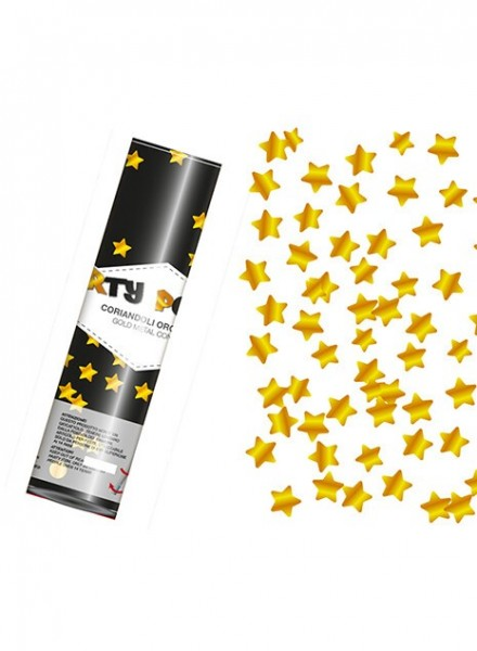 Party popper Cm 20 coriandoli stelle oro