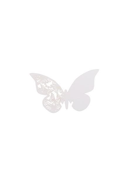 Segnaposto perlati Butterfly (6pz)
