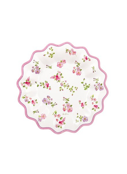 Piatto 21 cm Romantic Flowers (8pz)