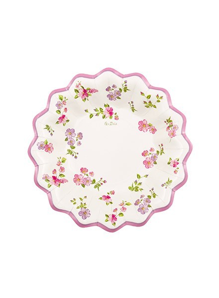 Fondina 24 cm Romantic Flowers (8pz)