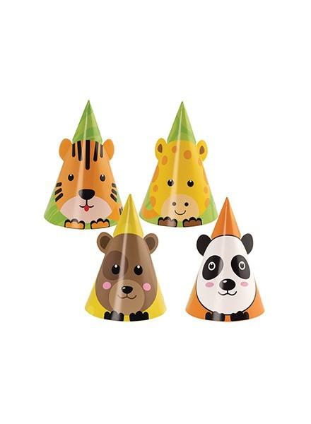 Cappellini sagomati assortiti Zoo Party (6pz)