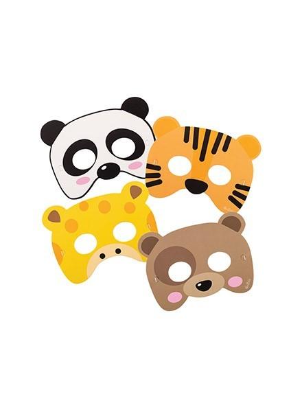 Maschere assortite Zoo Party (6pz)