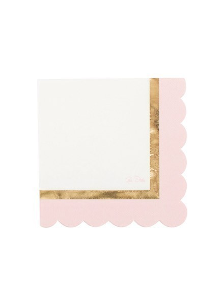 Tovagliolo Baby Shower rosa (16pz)