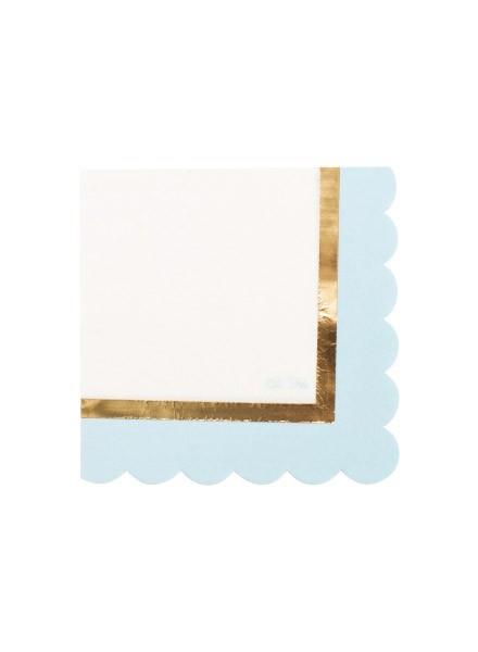 Tovagliolo Baby Shower azzurro (16pz)