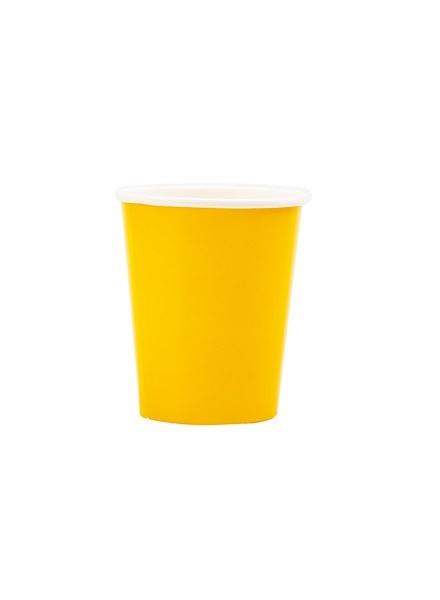 Bicchiere giallo sole (8pz)