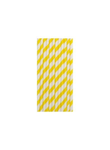 cannucce righe giallo (12pz)