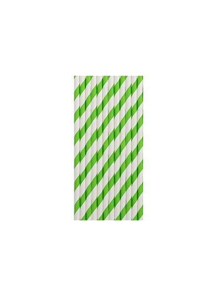 Cannucce righe verdi (12pz)