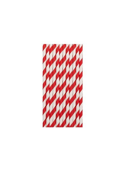 Cannucce righe rosso (12pz)