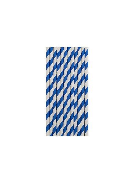Cannucce righe blu (12pz)