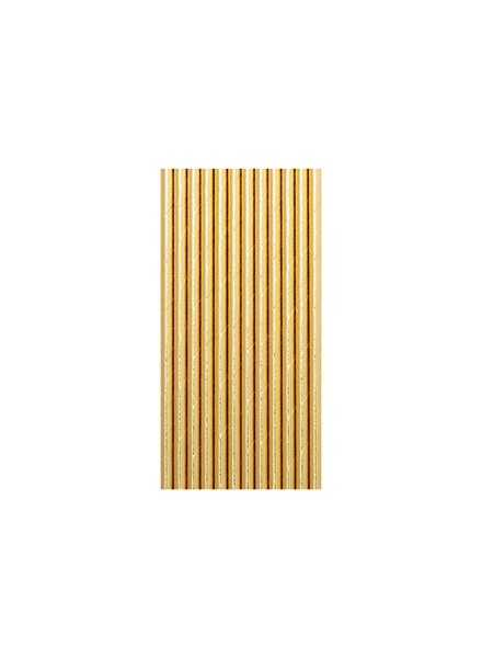 Cannucce oro metal (12pz)