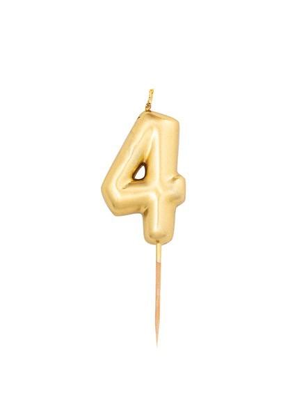 Candela quattro oro metal (1pz)
