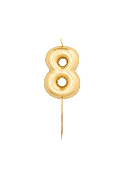 Candela otto oro metal (1pz)