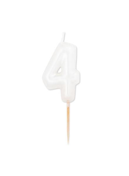 Candela quattro bianco perla metal (1pz)